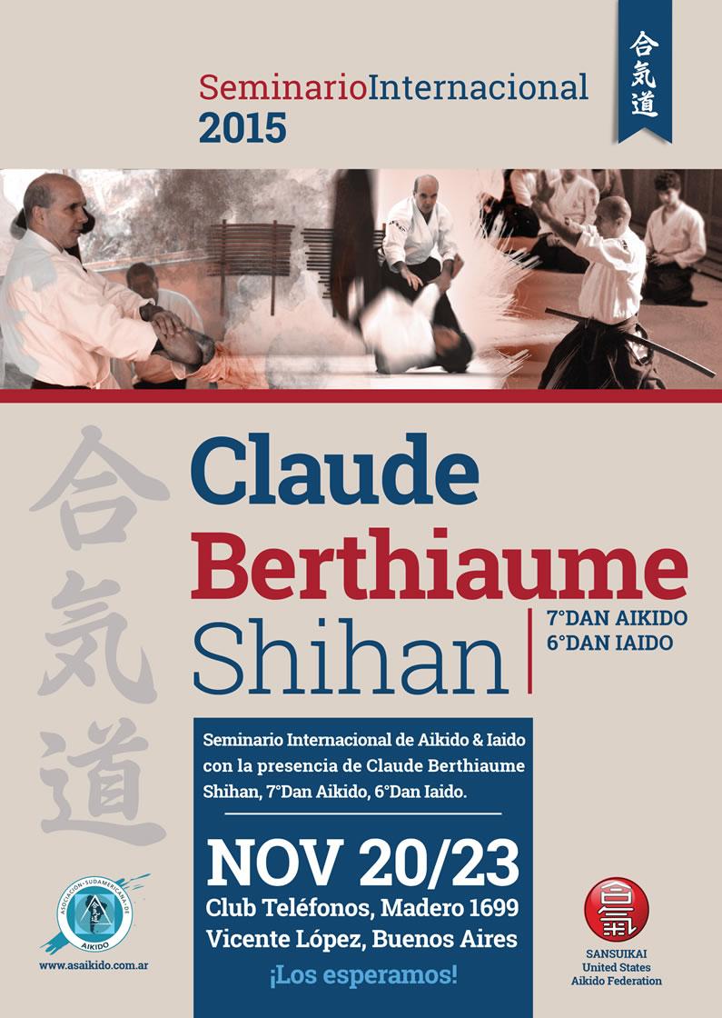 Afiche Claude Berthiaume Shihan en Buenos Aires