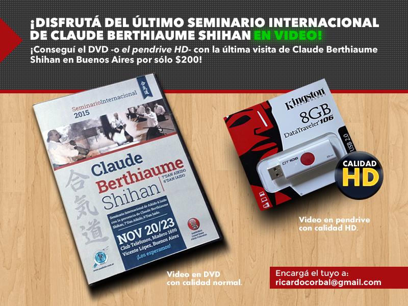 DVD Seminario Claude Berthiaume 2015